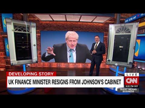 UK finance minister resigns from Boris Johnson's cabinet