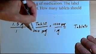 Drug Calculations - intro to dimensional analysis  105
