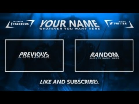 TOP 10 EPIC FREE OUTRO TEMPLATES ! +FREE DOWNLOADS