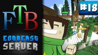 Grand Stairway, Base Plans & Hellp?!? - Feed The Beast Smp #18