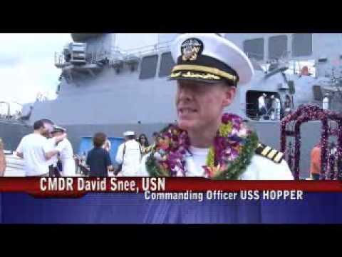 USS Hopper returns home from deployment