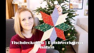 LAST - MINUTE - WEIHNACHTSGESCHENK | Tischdeckchen | Patchworkstern nähen