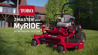Toro Z Master 6000 Series with MyRIDE® Suspension