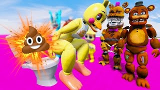 TOY ANIMATRONICS EXPLOSIVE POOP PRANK! (GTA 5 Mods For Kids FNAF Funny Moments) RedHatter