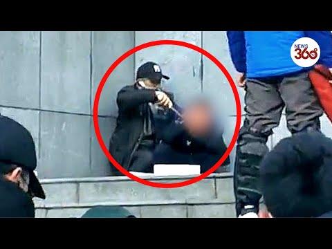 Video: Man shot