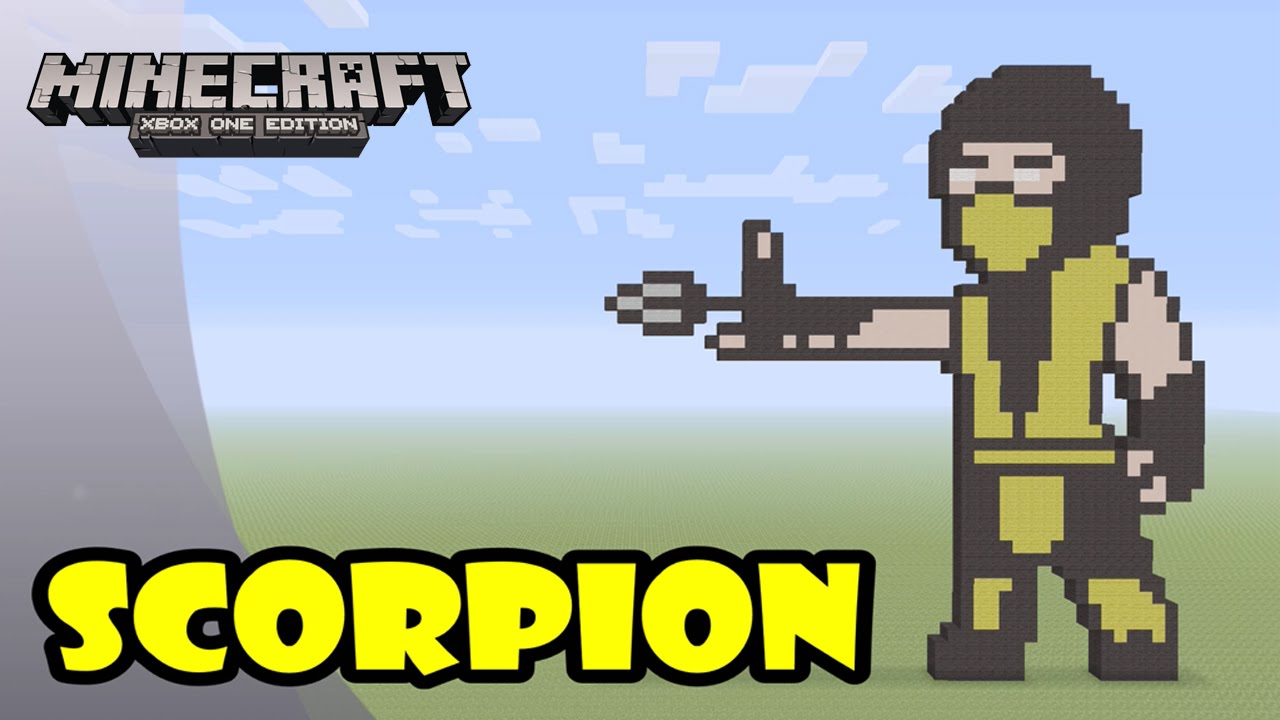 Minecraft: Pixel Art Tutorial and Showcase: Scorpion (Mortal Kombat)