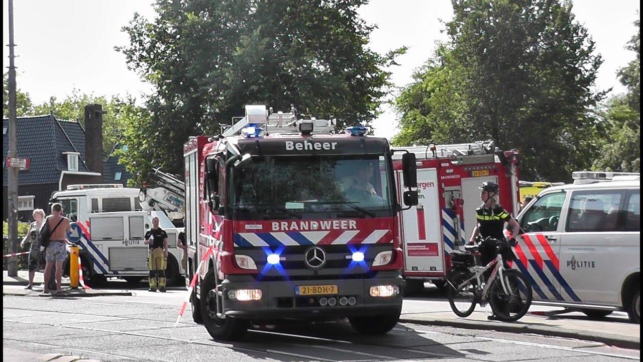 Grip1 Brandweer Met Spoed Naar Zeer Grote Brand
