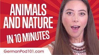 Learn German in 10 Minutes - Talk about Animals and Nature