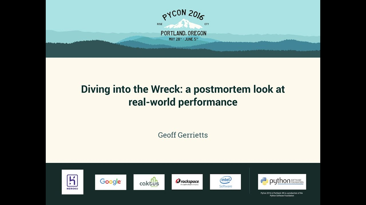 Image from Diving into the Wreck: a postmortem look at real-world performance