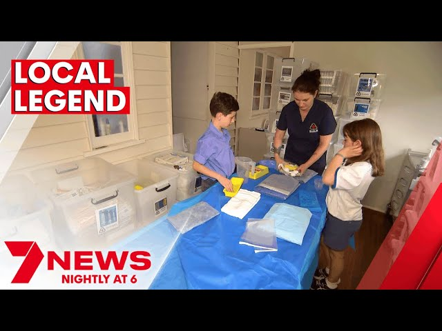 Brisbane mum honoured for charity work to save medical supplies from landfill | 7NEWS