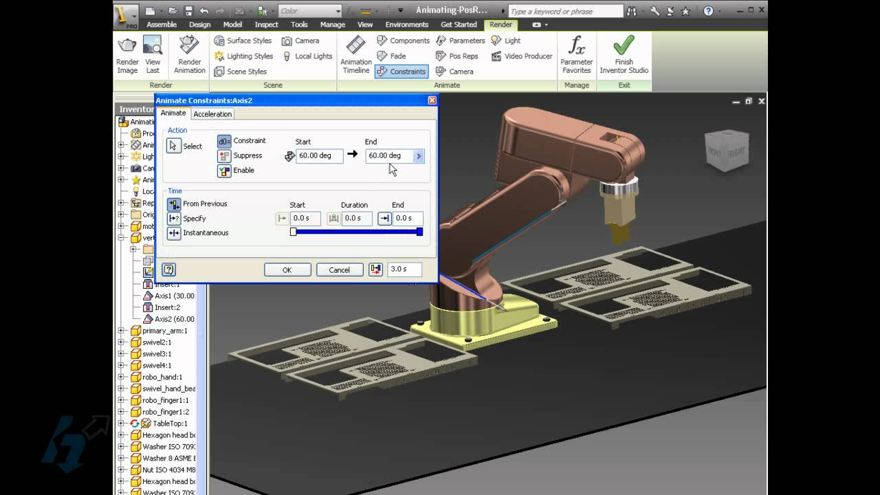 Product Animation in Autodesk Inventor - YouTube