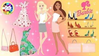 Barbie Paper Dolls makeup, dress up and play for shopping Shoes Homemade Crafts