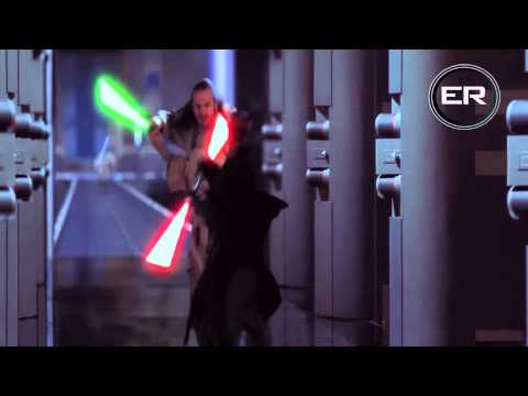 Obi Wan & Qui Gon Ginn Vs Darth Maul HD 1080p