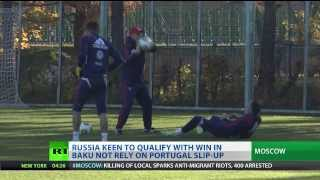 Russia train for Azerbaijan qualifier after 4-0 Luxembourg rout