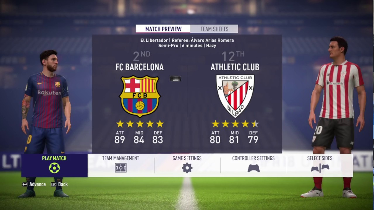 FIFA 18 Barcelona v Athletic Club Bilbao Gameplay (4-1 ...