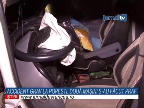 JURNAL DE VRANCEA: Două mașini s-au făcut praf în urma unui accident la Popești