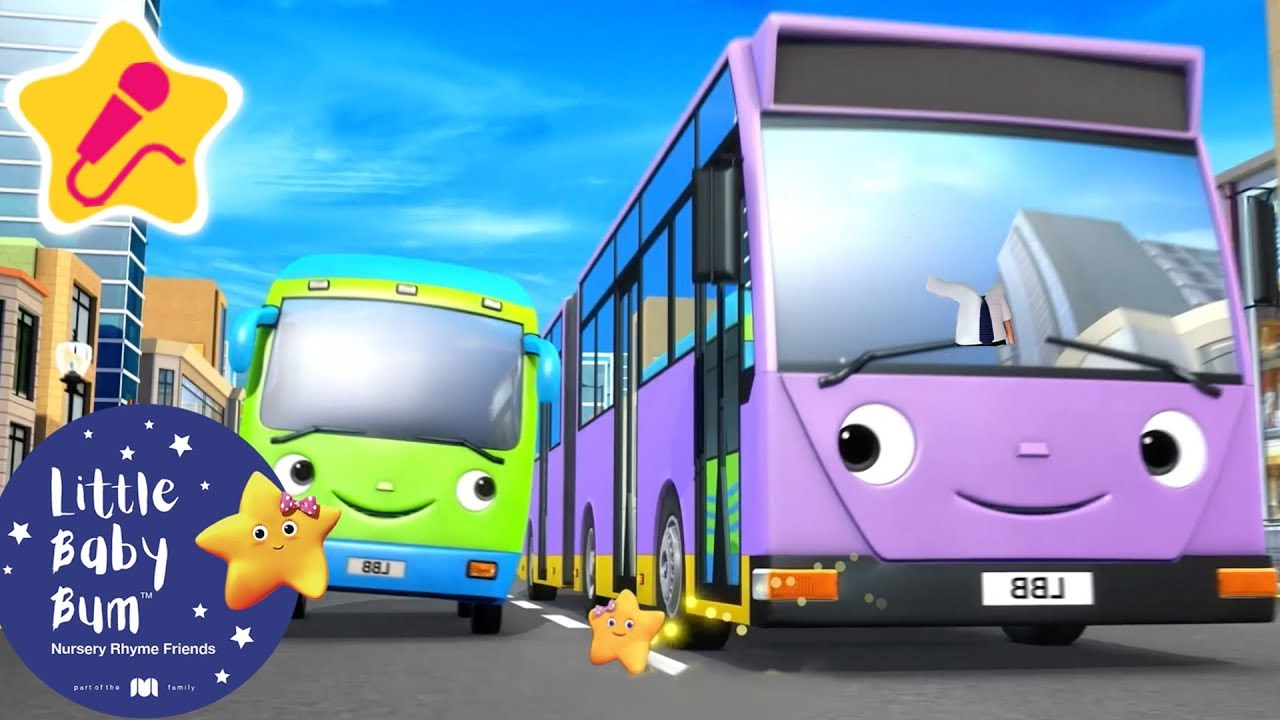 Different Types of Buses | KARAOKE for Kids + More Nursery Rhymes & Kids Songs | Little Baby Bum