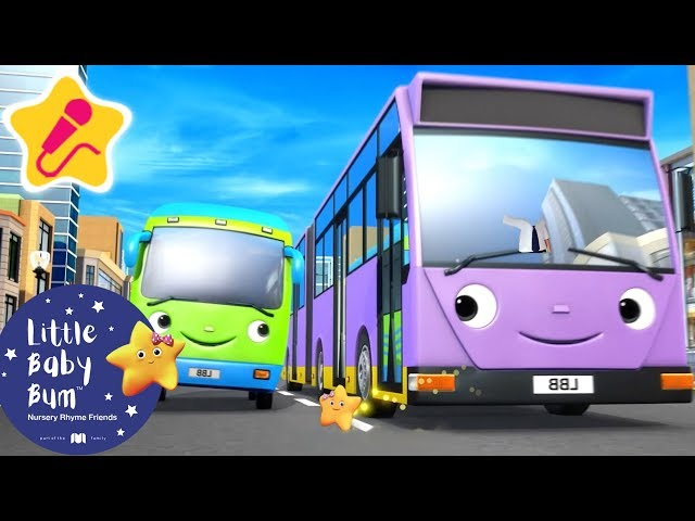 Different Types of Buses | KARAOKE for Kids + More Nursery Rhymes & Kids Songs | Little Baby Bum