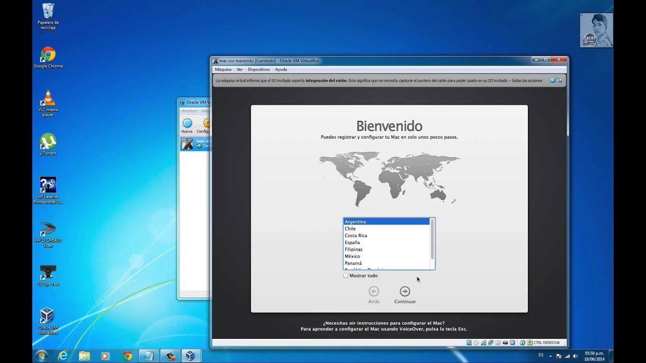 how to run mac on virtualbox windows 7