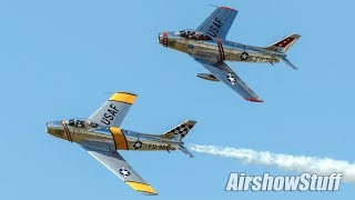 F-86 Sabre Formation Flybys - Northern Illinois Airshow 2017