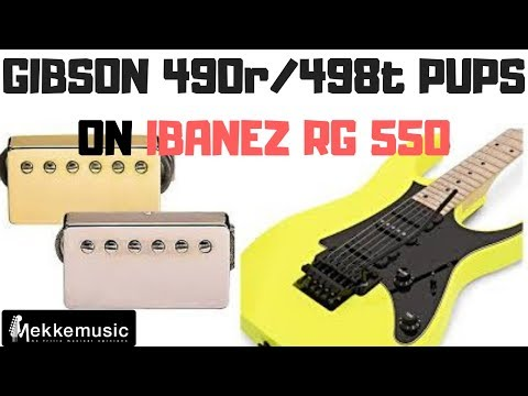 Gibson Pickups 490R - 498T on Ibanez RG550