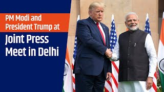 PM Modi and President Trump at Joint Press Meet in Delhi | PMO