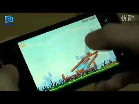 Meizu M9 running Angry Birds