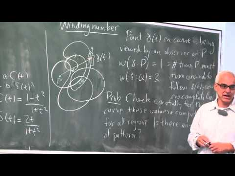 Curvature, turning numbers and winding numbers (cont) | Differential Geometry 17 | NJ Wildberger