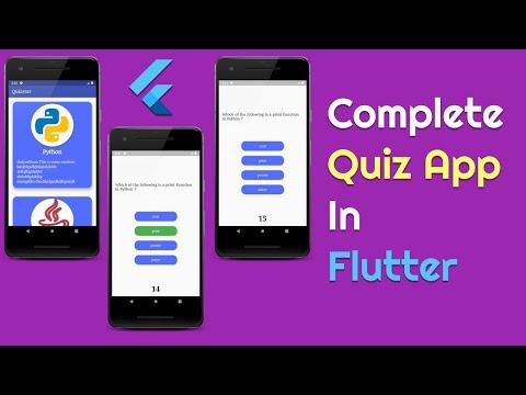 Complete Quiz App With Timer  In Flutter | By Desi Programmer