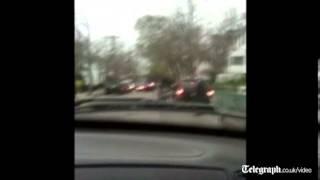 Raid on Boston bombing suspect captured on film