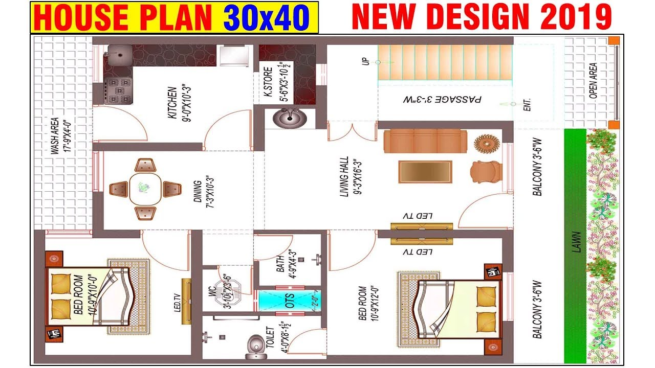 best house plan website 30x40 house plans west facing house designs rd design youtube 5924