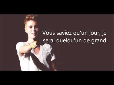 Justin Bieber - Believe (traduction française)