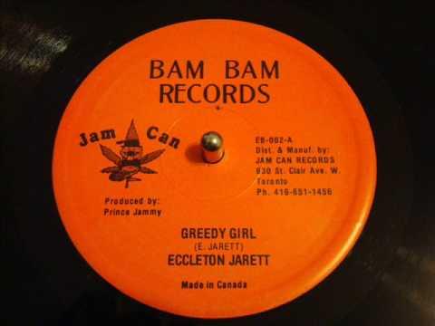 "Eccleton Jarett Greedy Girl - Jam Cam 12"" - Produced By Prince Jammy - DJ J-ROOTS"