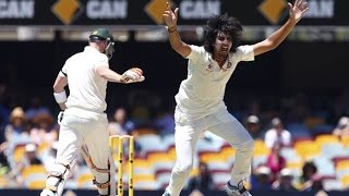 Ishant Sharma hostile bouncer & epic wicket of Michael Clarke, who walks!!!!!!
