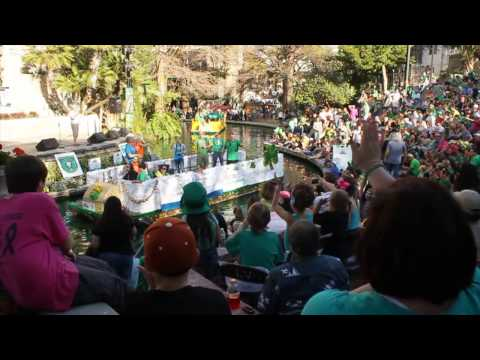 San Antonio River Walk 2015 Murphy's St. Patrick's Day River Parade & Festival