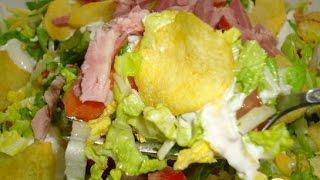 Салат с пекинской капустой, сыром и ветчиной  Пошаговый рецепт