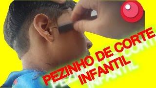 CORTE DE CABELO INFANTIL, SURFISTA como fazer o pezinho do cabelo,corte infantil masculino
