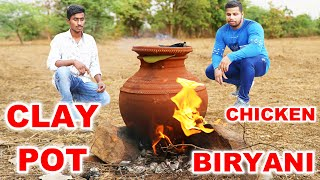RED CLAY POT CHICKEN CURRY BIRYANI MAKING IN THE WILD