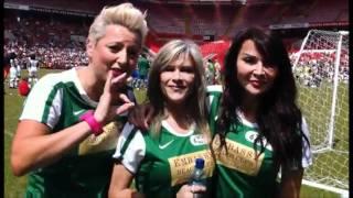Samantha Fox, Lizzie Cundy & Caroline Monk at Soccer Six