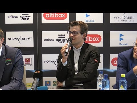 PRESS CONFERENCE WITH MAGNUS CARLSEN - HIKARU NAKAMURA - WESLEY SO - NORWAY CHESS 2017