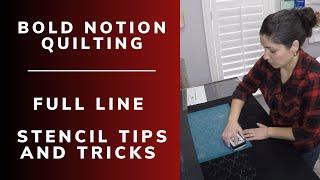 Full line stencil tips Beginner tips