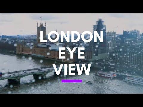 London Eye View - Millennium Wheel Over Thames River