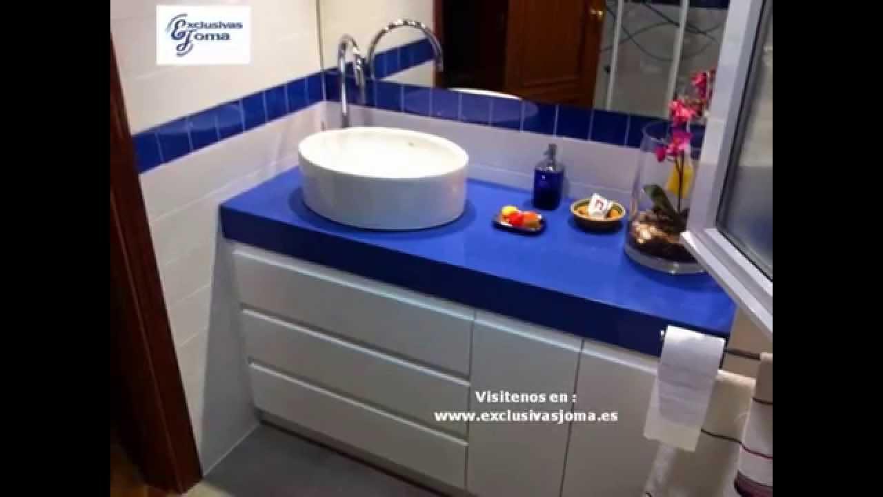 Muebles De Baño Roca:Reforma de baño en chalet Tres cantosSilestone azul enjoy Profiltek
