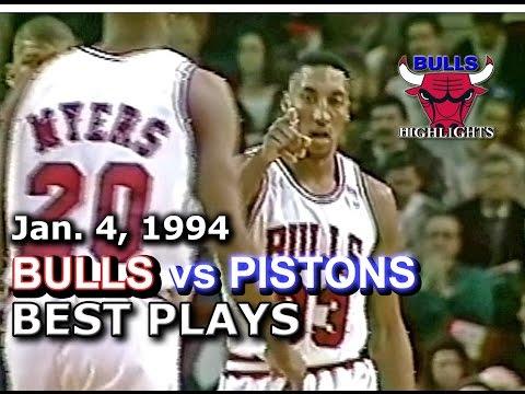 January 04 1994 Bulls vs Pistons highlights