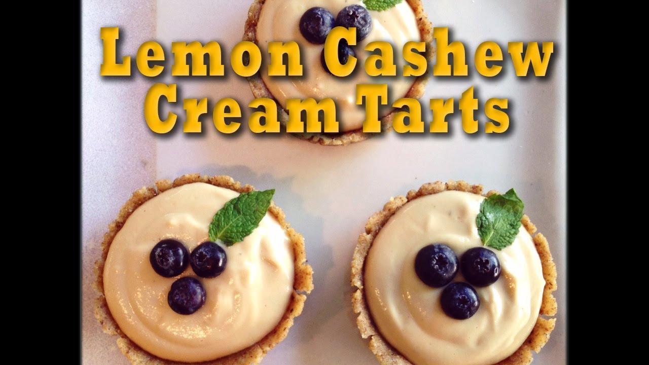Lemon cashew cream tarts raw vegan dessert recipe youtube forumfinder Choice Image