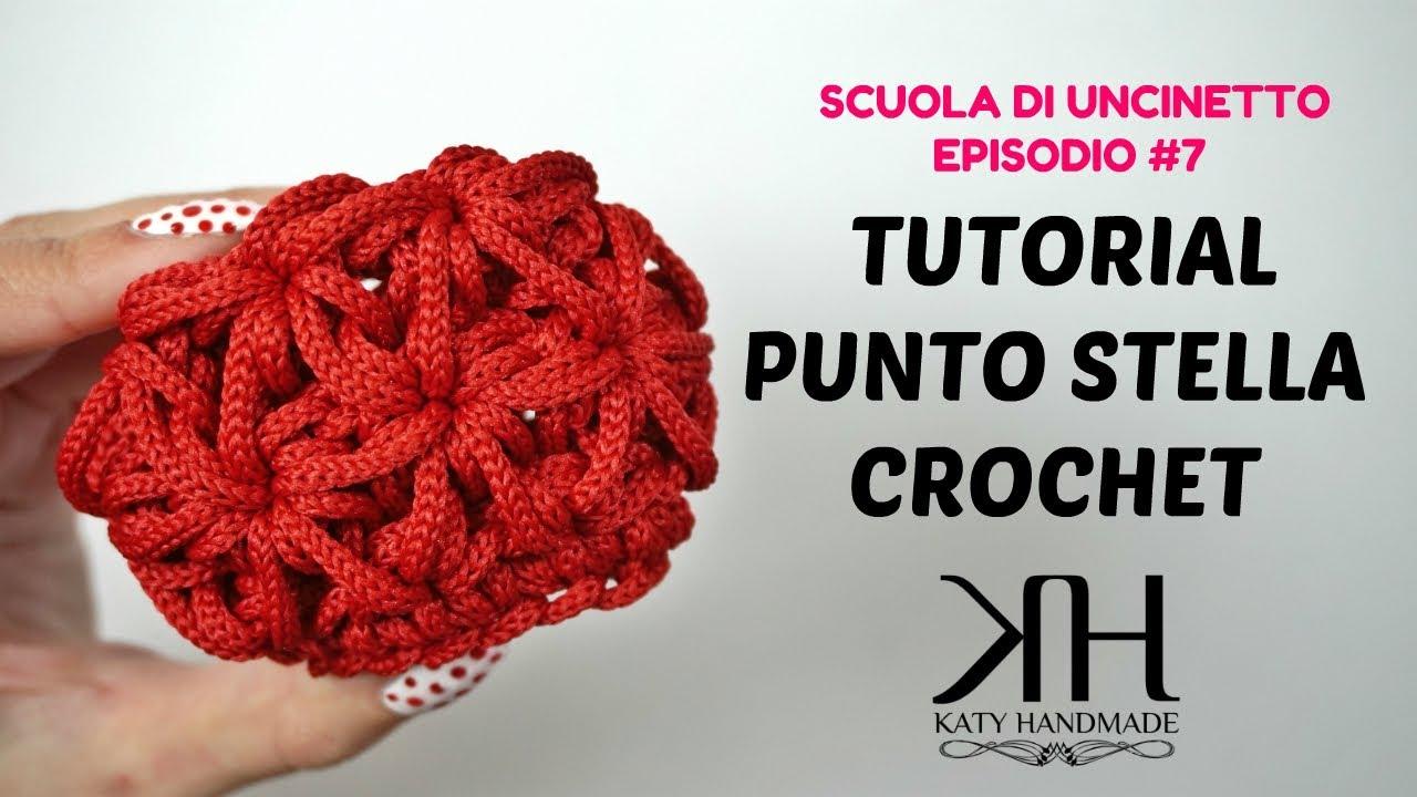 Punto Crochet All Uncinetto.Tutorial Punto Stella In Tondo E A Pannello Crochet Scuola Di