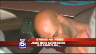 Jamie Hood surrendered on live television  peacefully to authorities late Friday night