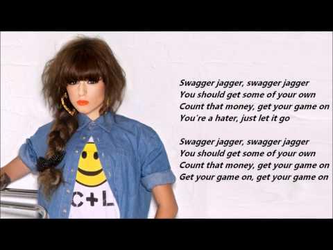 Cher Lloyd - Swagger Jagger /\ Lyrics On A Screen