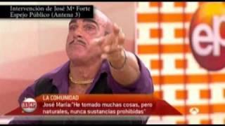 ANABOLIZANTES, INTERVENCIÓN DE JOSE MARIA FORTE EN ESPEJO PUBLICO (ANTENA 3)
