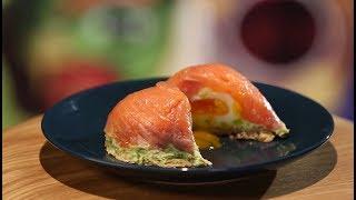 Рецепт недели - пирожные из лосося с яйцом пашот